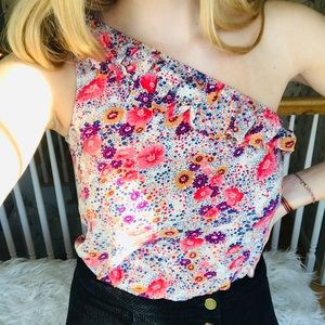 Tops - Floral One Shoulder Top